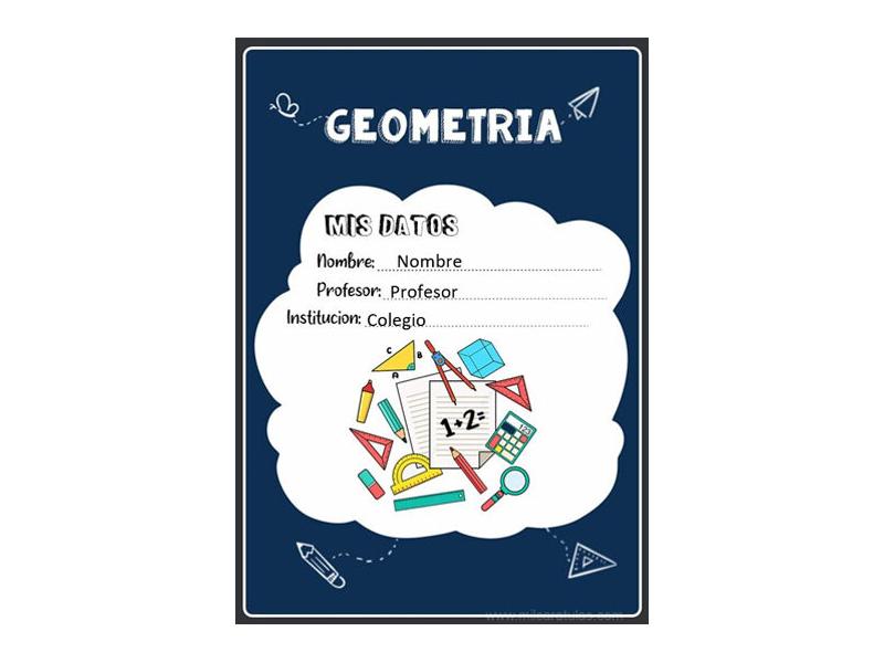 Caratula y Portada de Geometría en Word 11