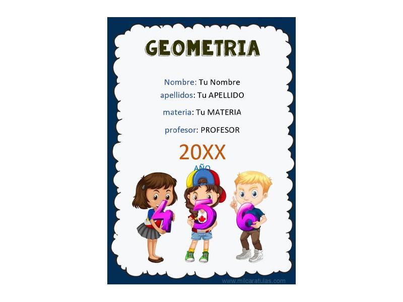 Caratula y Portada de Geometría en Word 3