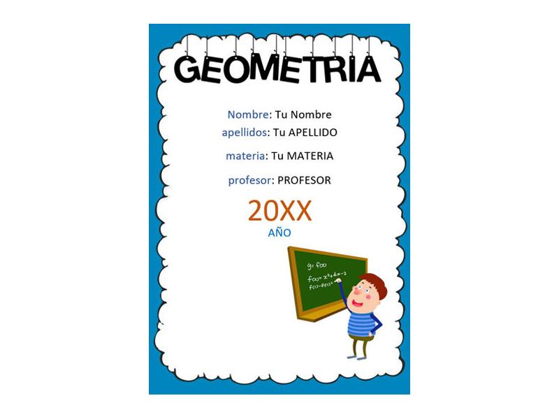 Caratula y Portada de Geometría en Word 5