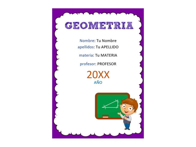 Caratula y Portada de Geometría en Word 6