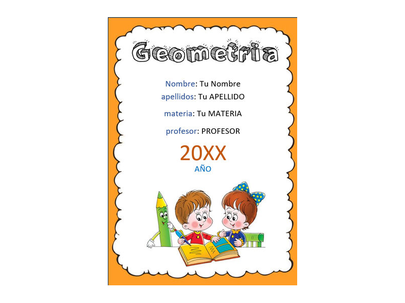 Caratula y Portada de Geometría en Word 7
