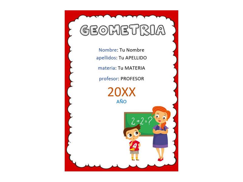 Caratula y Portada de Geometría en Word 8