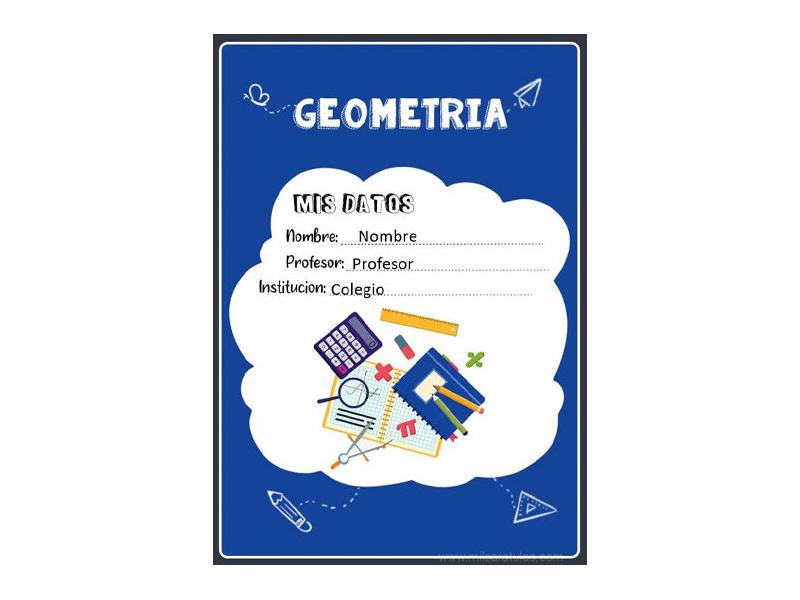 Caratula y Portada de Geometría en Word 9