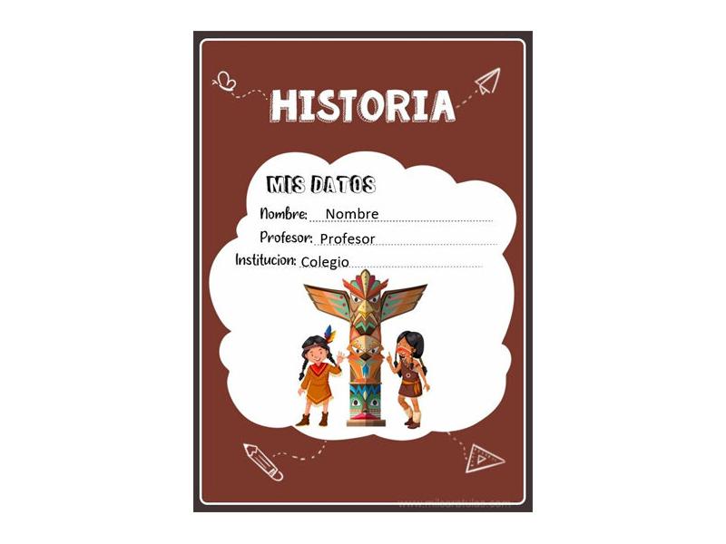 Caratula y Portada de Historia en Word 1