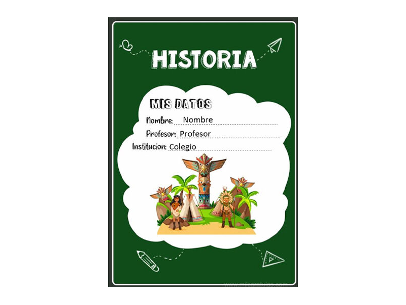 Caratula y Portada de Historia en Word 2