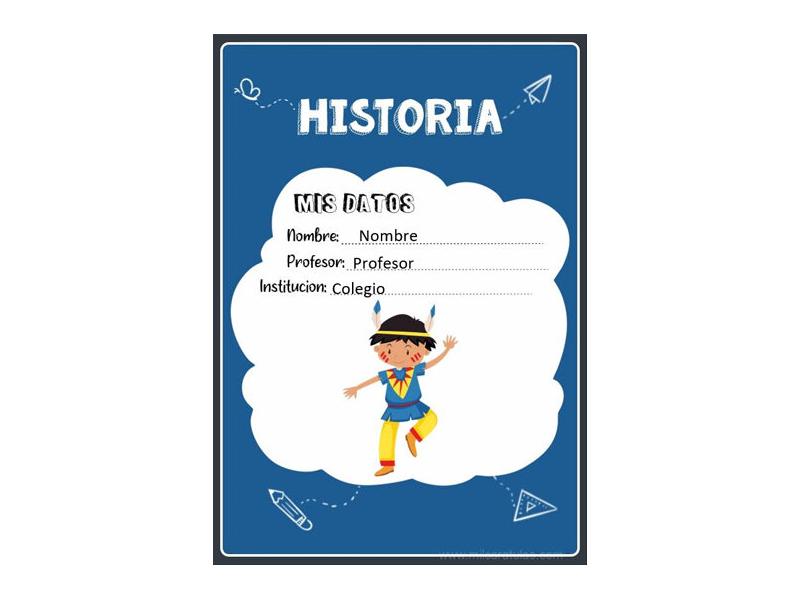 Caratula y Portada de Historia en Word 3