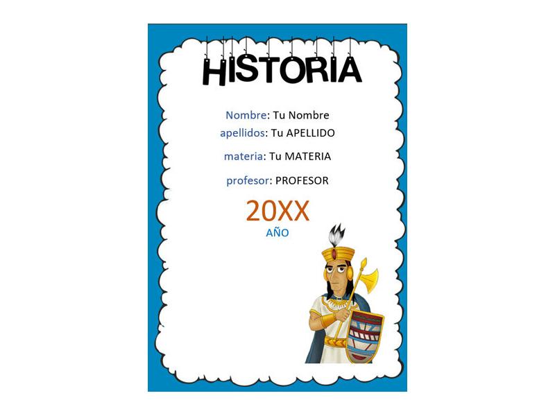 Caratula y Portada de Historia en Word 4