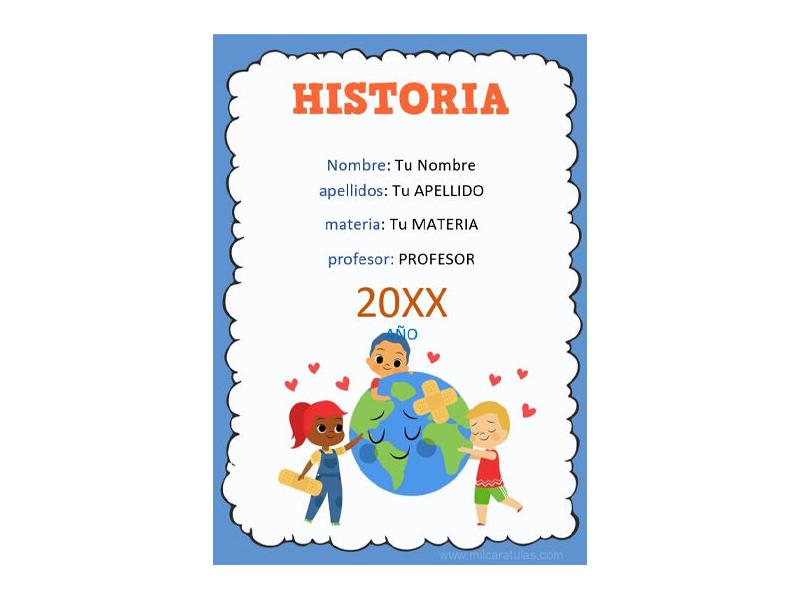 Caratula y Portada de Historia en Word 8