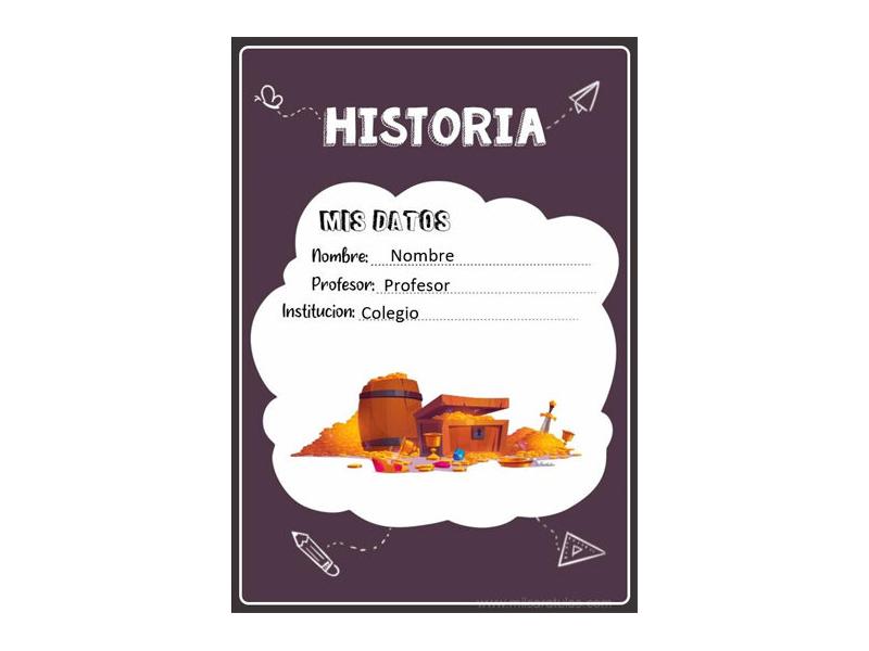 Caratula y Portada de Historia en Word