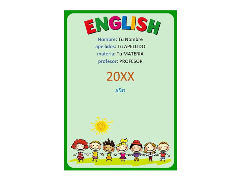 Caratula y Portada de Ingles en Word 10