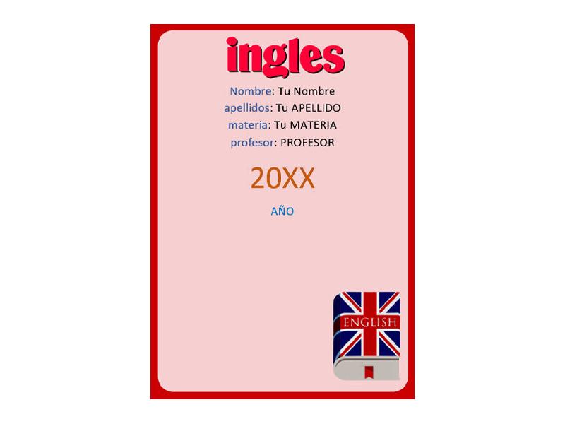 Caratula y Portada de Ingles en Word 12