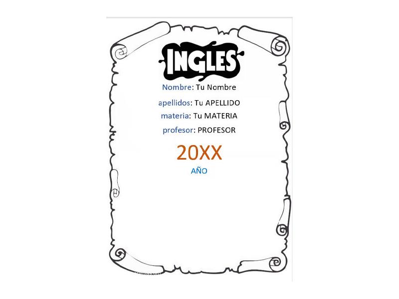 Caratula y Portada de Ingles en Word 15