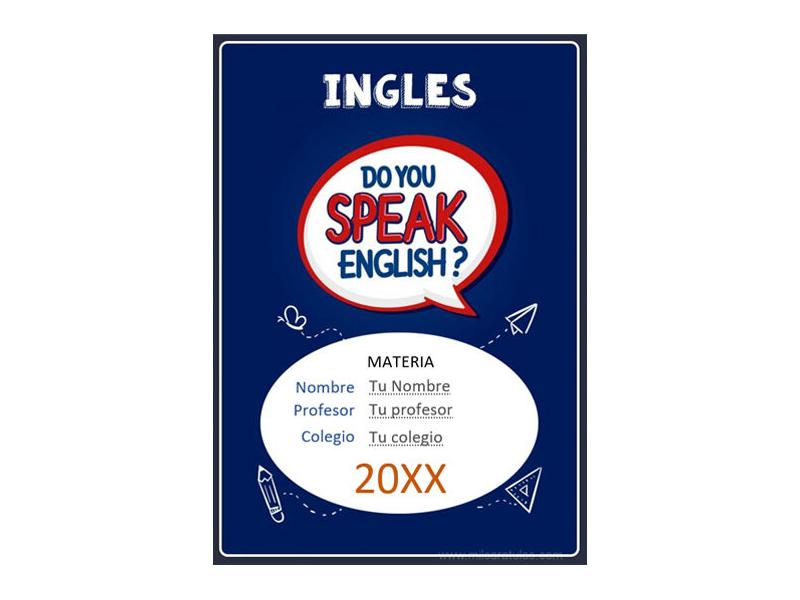 Caratula y Portada de Ingles en Word 21