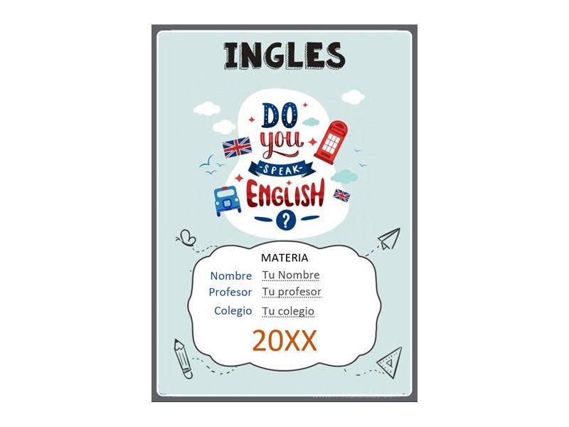 Caratula y Portada de Ingles en Word 22