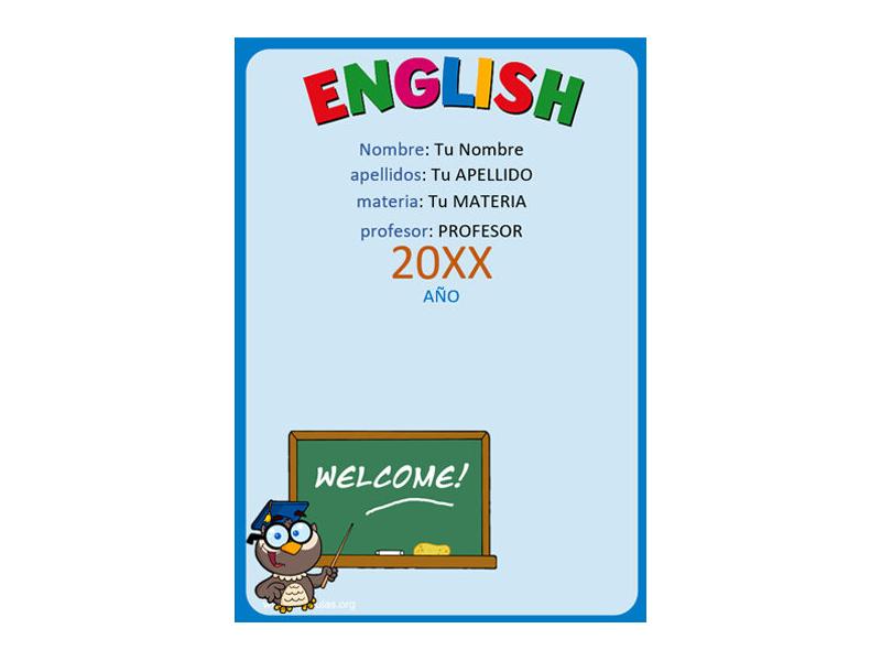 Caratula y Portada de Ingles en Word 3