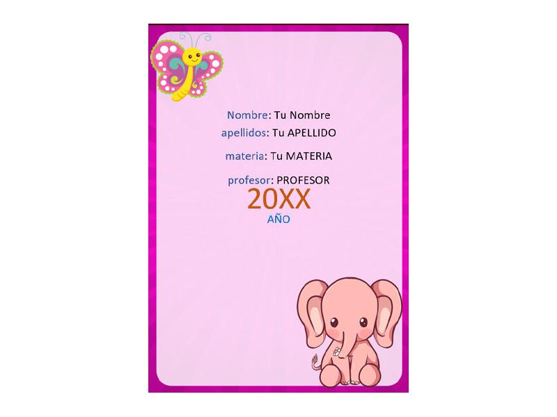 Caratula y Portada de Lenguaje en Word 10