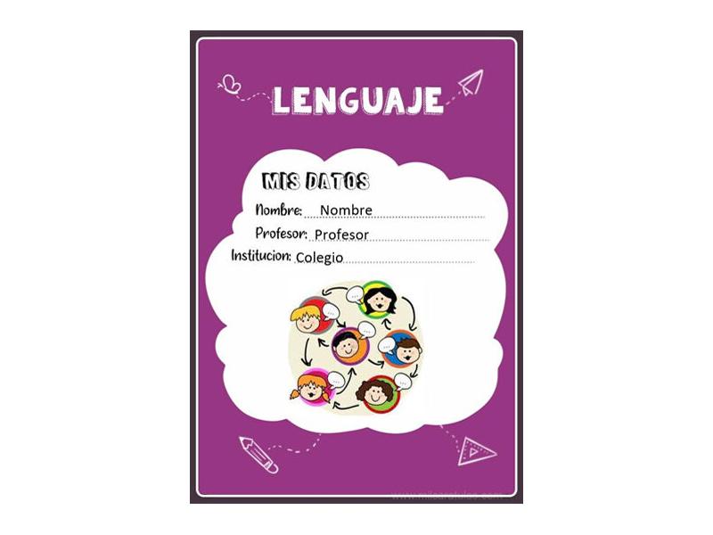 Caratula y Portada de Lenguaje en Word 14