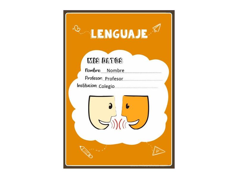 Caratula y Portada de Lenguaje en Word 15