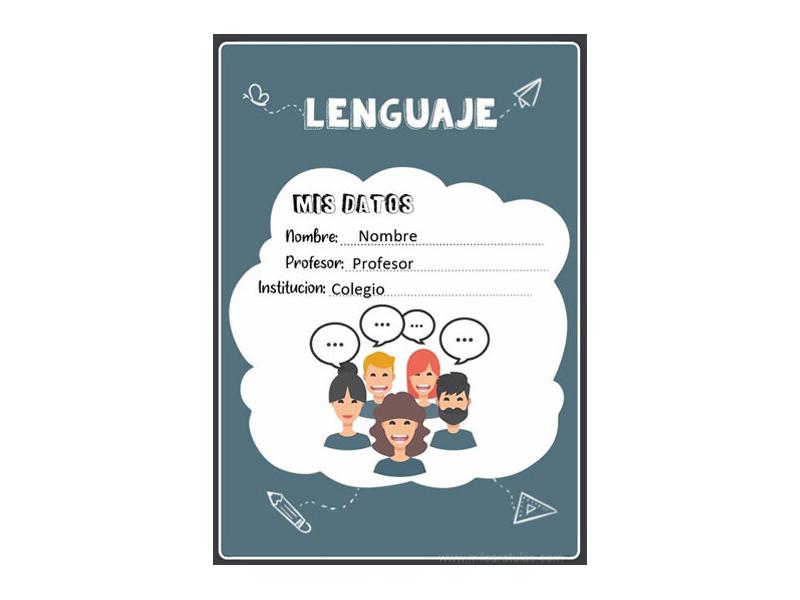 Caratula y Portada de Lenguaje en Word 16