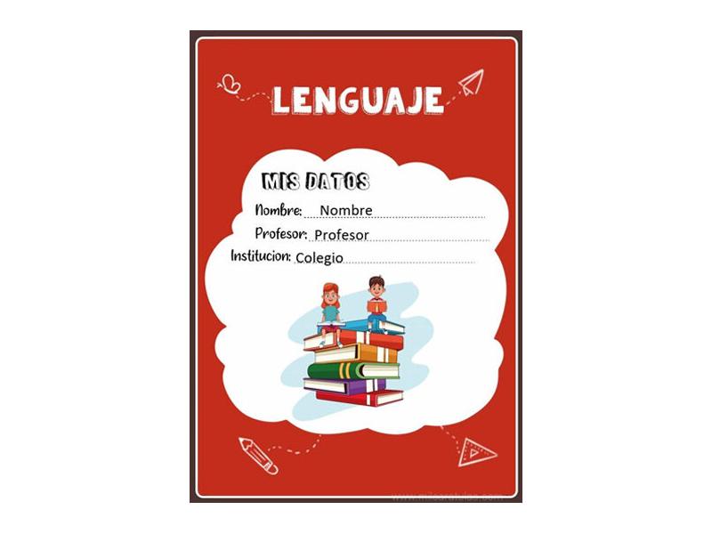 Caratula y Portada de Lenguaje en Word 17