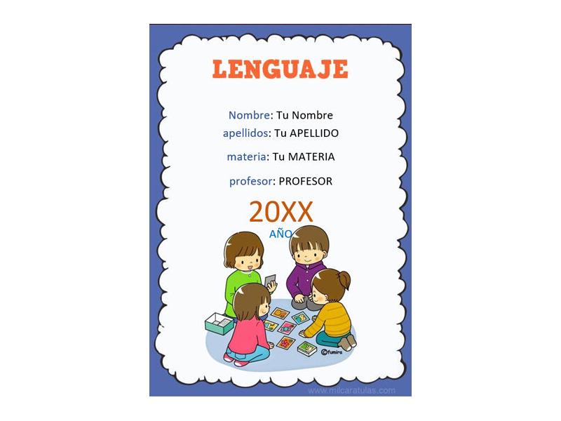 Caratula y Portada de Lenguaje en Word 3