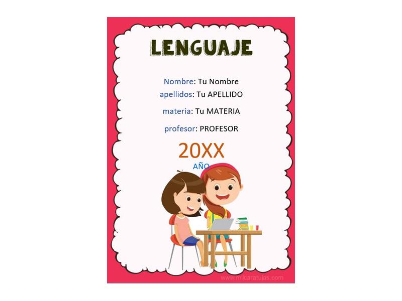 Caratula y Portada de Lenguaje en Word 4