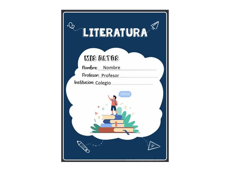 Caratula y Portada de Literatura en Word 10