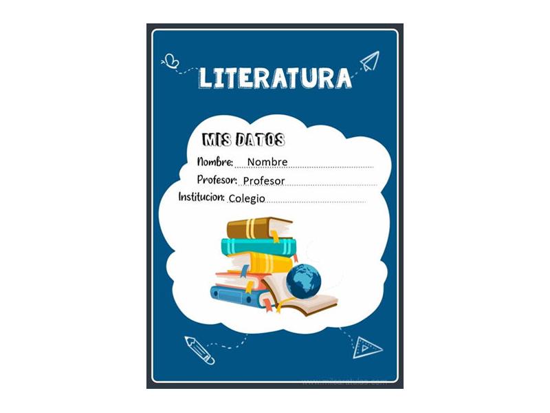 Caratula y Portada de Literatura en Word 11