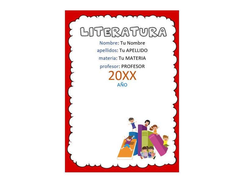 Caratula y Portada de Literatura en Word 7
