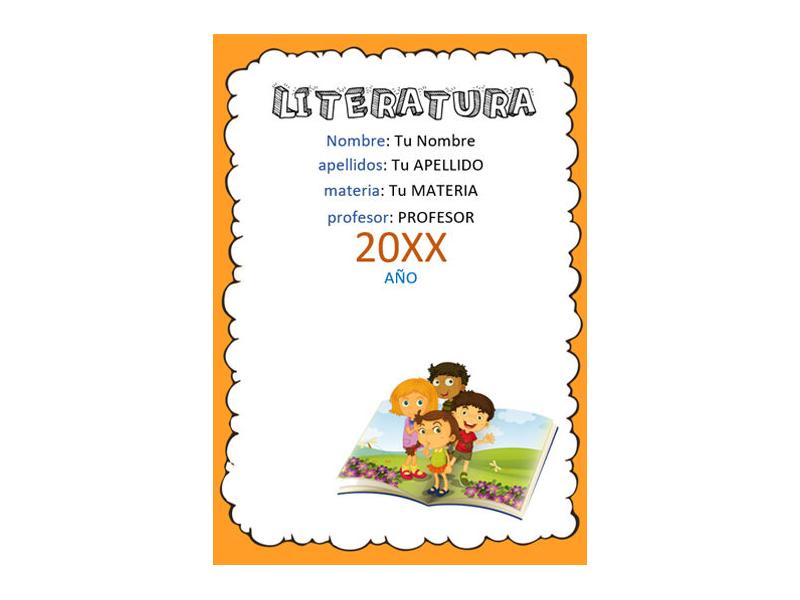 Caratula y Portada de Literatura en Word 8