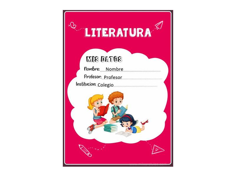 Caratula y Portada de Literatura en Word 9