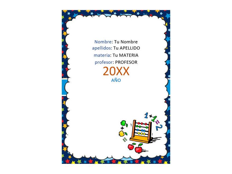Caratula y Portada de Matemáticas en Word 11