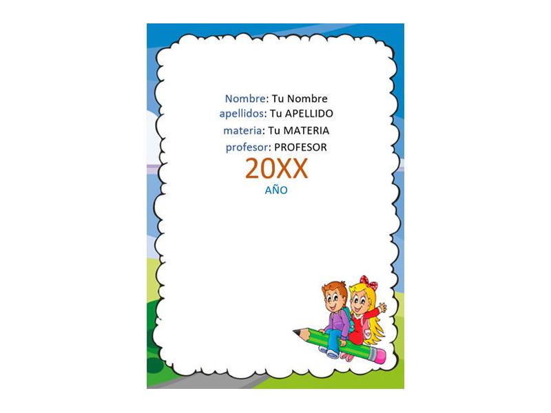Caratula y Portada de Matemáticas en Word 12