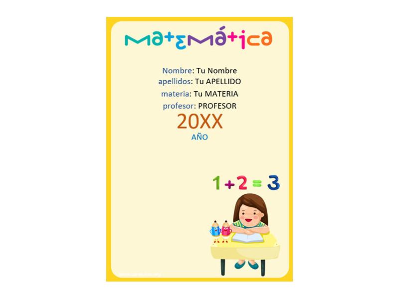 Caratula y Portada de Matemáticas en Word 17