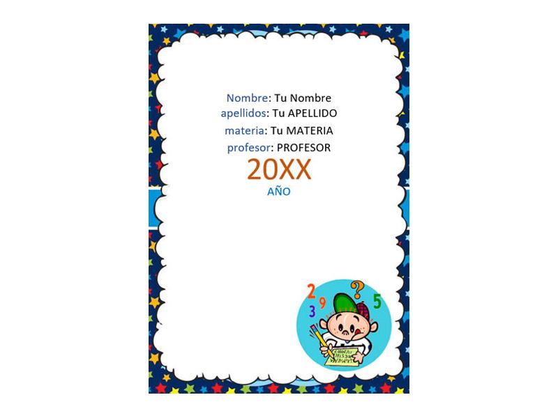 Caratula y Portada de Matemáticas en Word 20