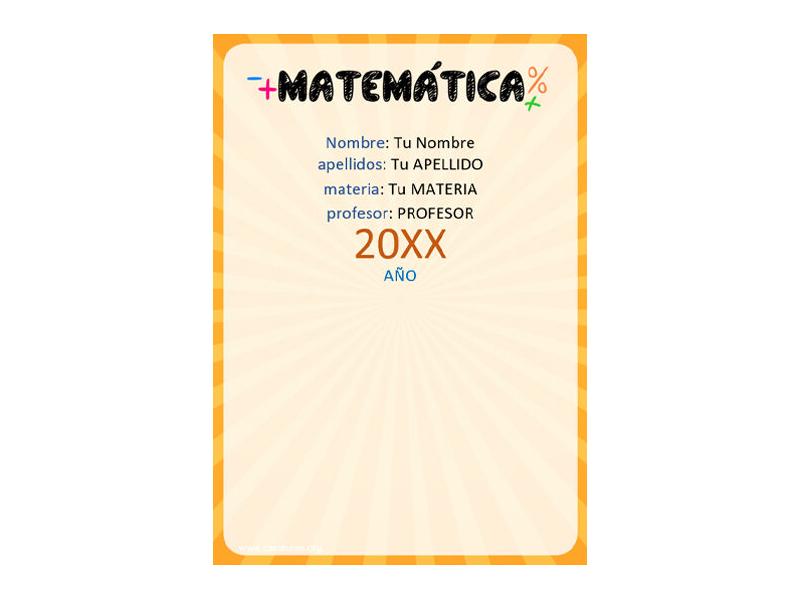 Caratula y Portada de Matemáticas en Word 27