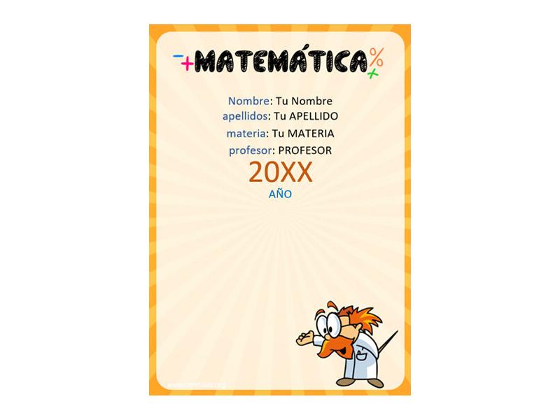 Caratula y Portada de Matemáticas en Word 29