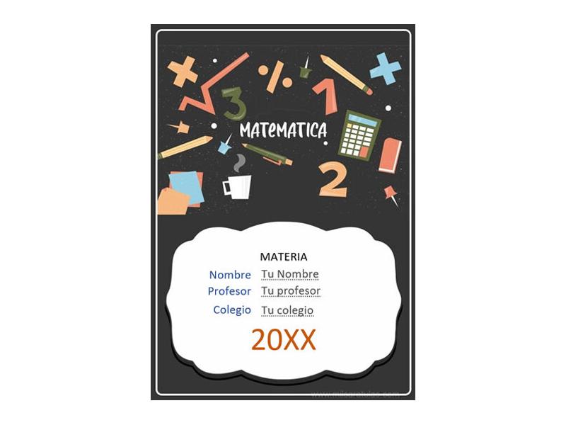 Caratula y Portada de Matemáticas en Word 31