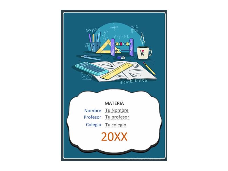 Caratula y Portada de Matemáticas en Word 33