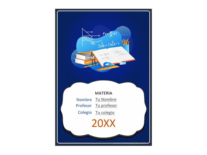 Caratula y Portada de Matemáticas en Word 34
