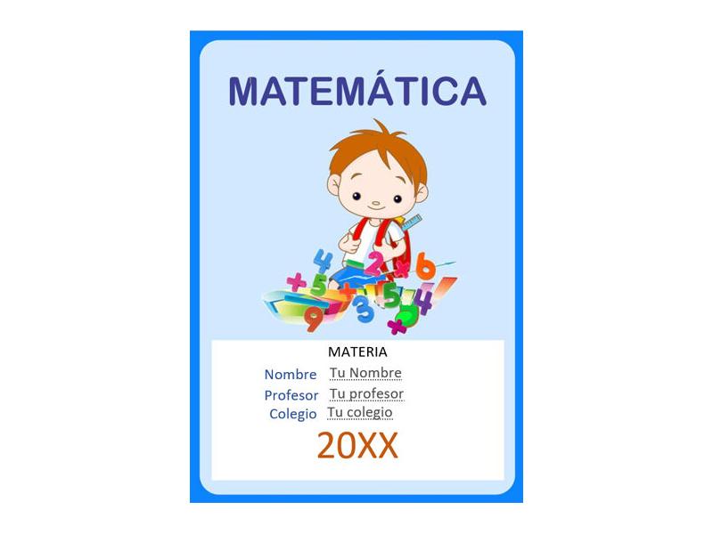 Caratula y Portada de Matemáticas en Word 35