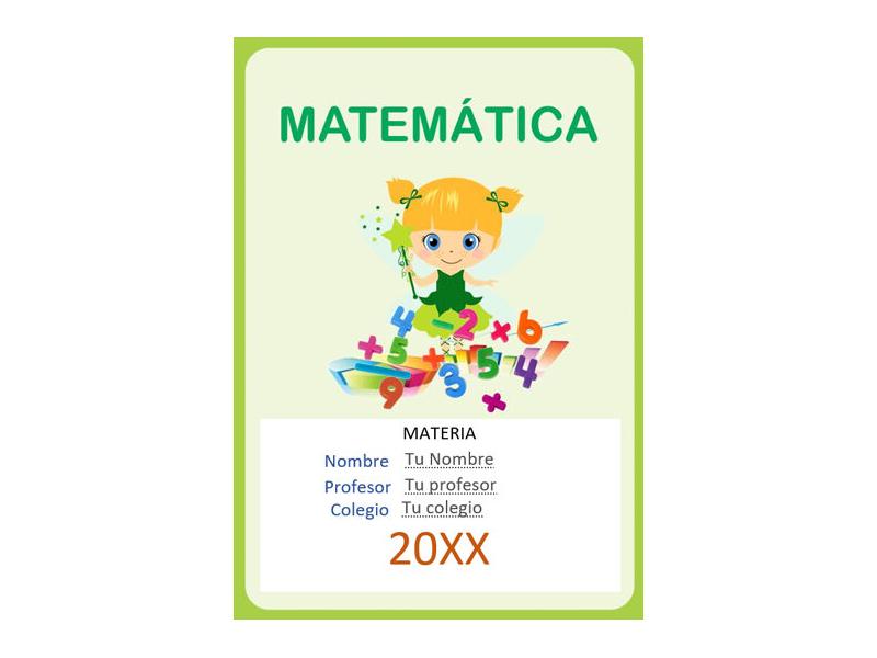 Caratula y Portada de Matemáticas en Word 36