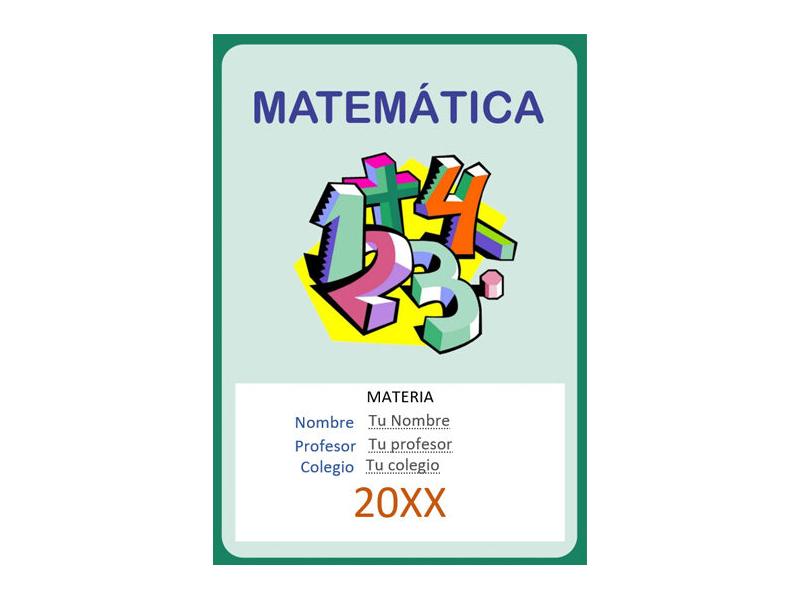 Caratula y Portada de Matemáticas en Word 37