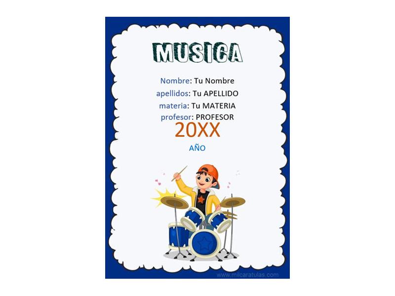 Caratula y Portada de Musica en Word 1