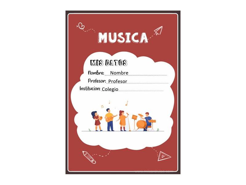 Caratula y Portada de Musica en Word 11