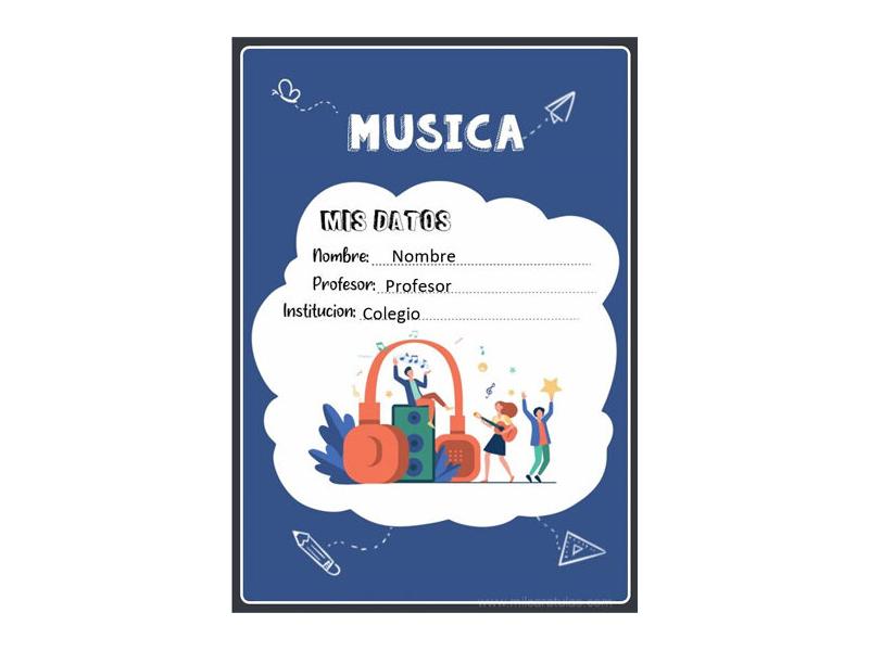 Caratula y Portada de Musica en Word 12