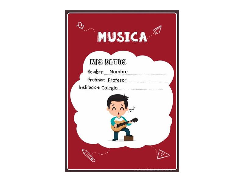 Caratula y Portada de Musica en Word 13