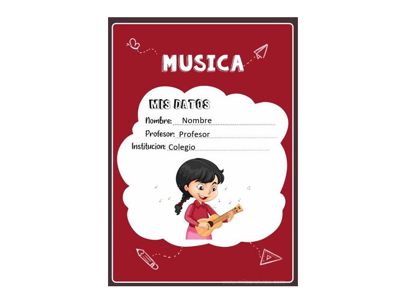 Caratula y Portada de Musica en Word 14