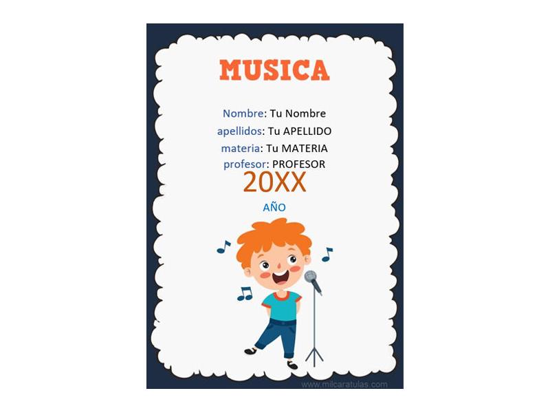 Caratula y Portada de Musica en Word 2