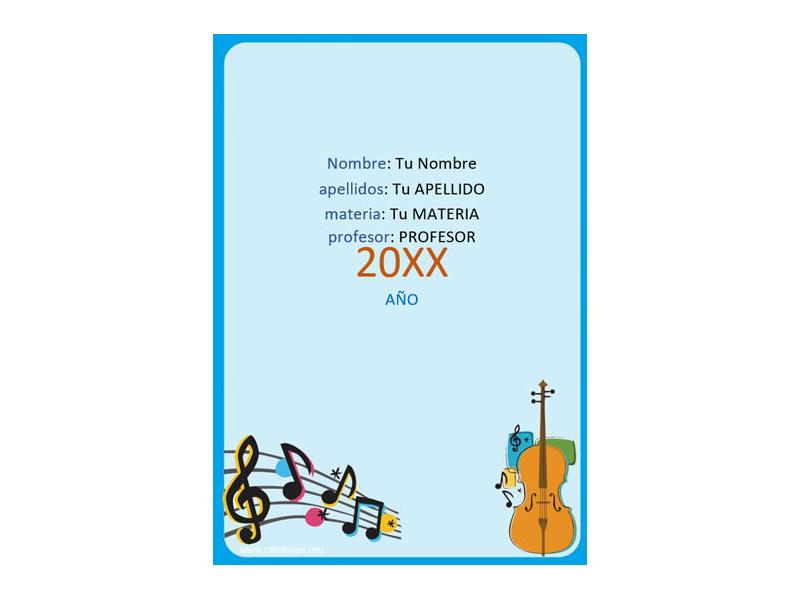 Caratula y Portada de Musica en Word 6